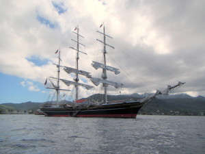 Not one of the Star Clippers, but you get the idea...