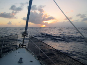 Sunset in the Anegada Passage.
