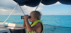 Peter keeping a sharp lookout. I don't want to hear any complaining kid. Your life is awesome!