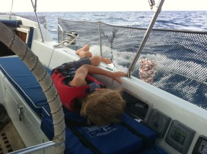 Peter usually sleeps for the first 48 hours of any passage, and this was no exception.